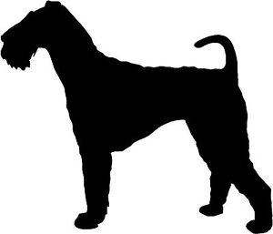 300x257 Airedale Terrier Dog Silhouette Sticker Decal Graphic Vinyl Label
