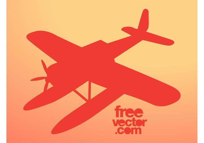 700x490 Airplane Silhouette Vector