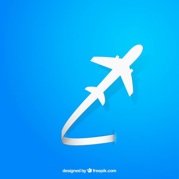 626x626 Flying Airplane Silhouette Vector Free Download