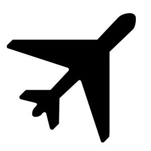 300x300 02b01 Sticker Aeroplane Silhouette Sticker Plot Aviator Airplane