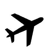 175x181 Airplane Silhouette Nursery Airplanes, Silhouettes