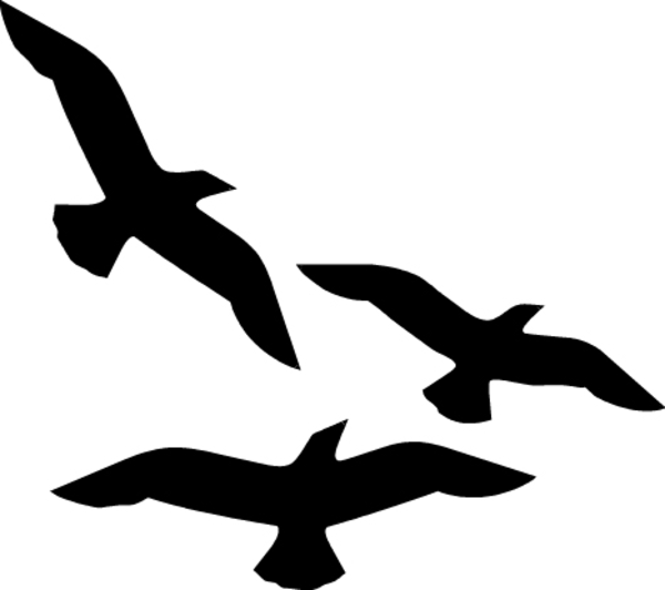 600x532 Birds Flying Silhouette Clip Art Free Images At Clker Com Bird