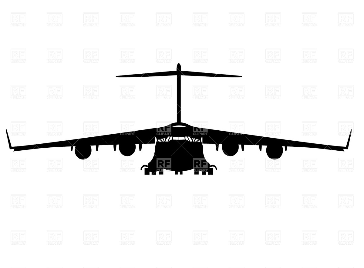 1200x884 Military Cargo Aircraft Clipart