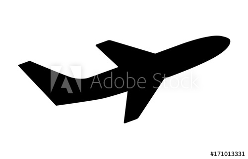 500x322 Airline Airplane Or Jetliner Flight Take Off With Two Wings Flat
