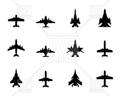 400x315 Icons Of Airplanes Royalty Free Vector Clip Art Image