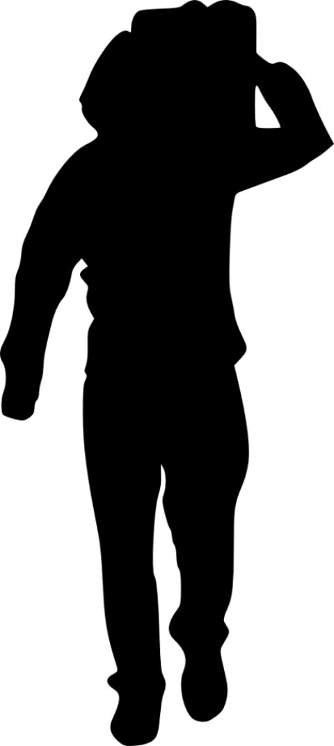 480x1071 People With Luggage Silhouette Png