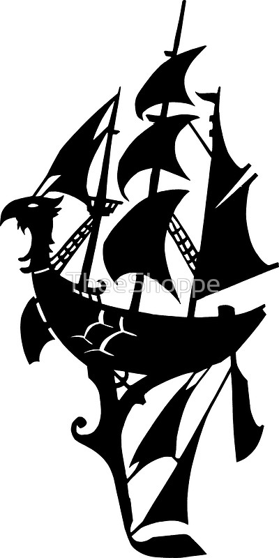 400x800 Steampunk Pirate Airship Silhouette Proud Sky Valkyrie Posters By