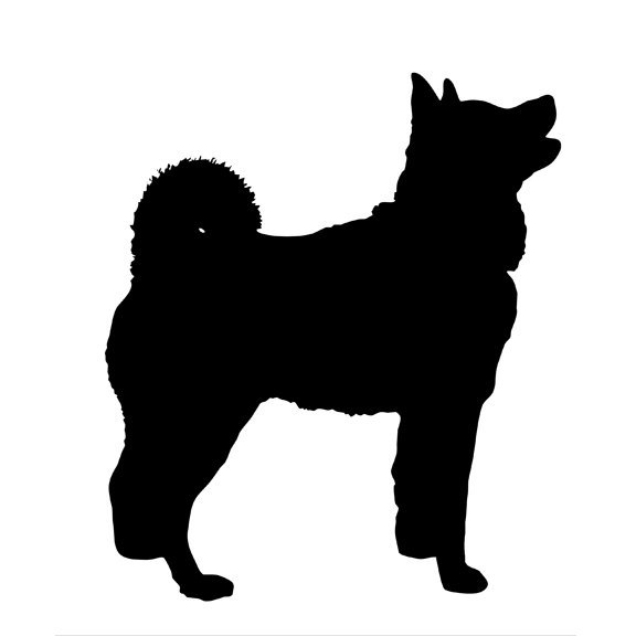 576x576 Akita Silhouette Vinyl Decal By Wilsongraphics On Zibbet