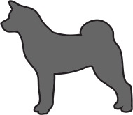 190x165 Akita Outlined Silhouette By Castaspell Spreadshirt