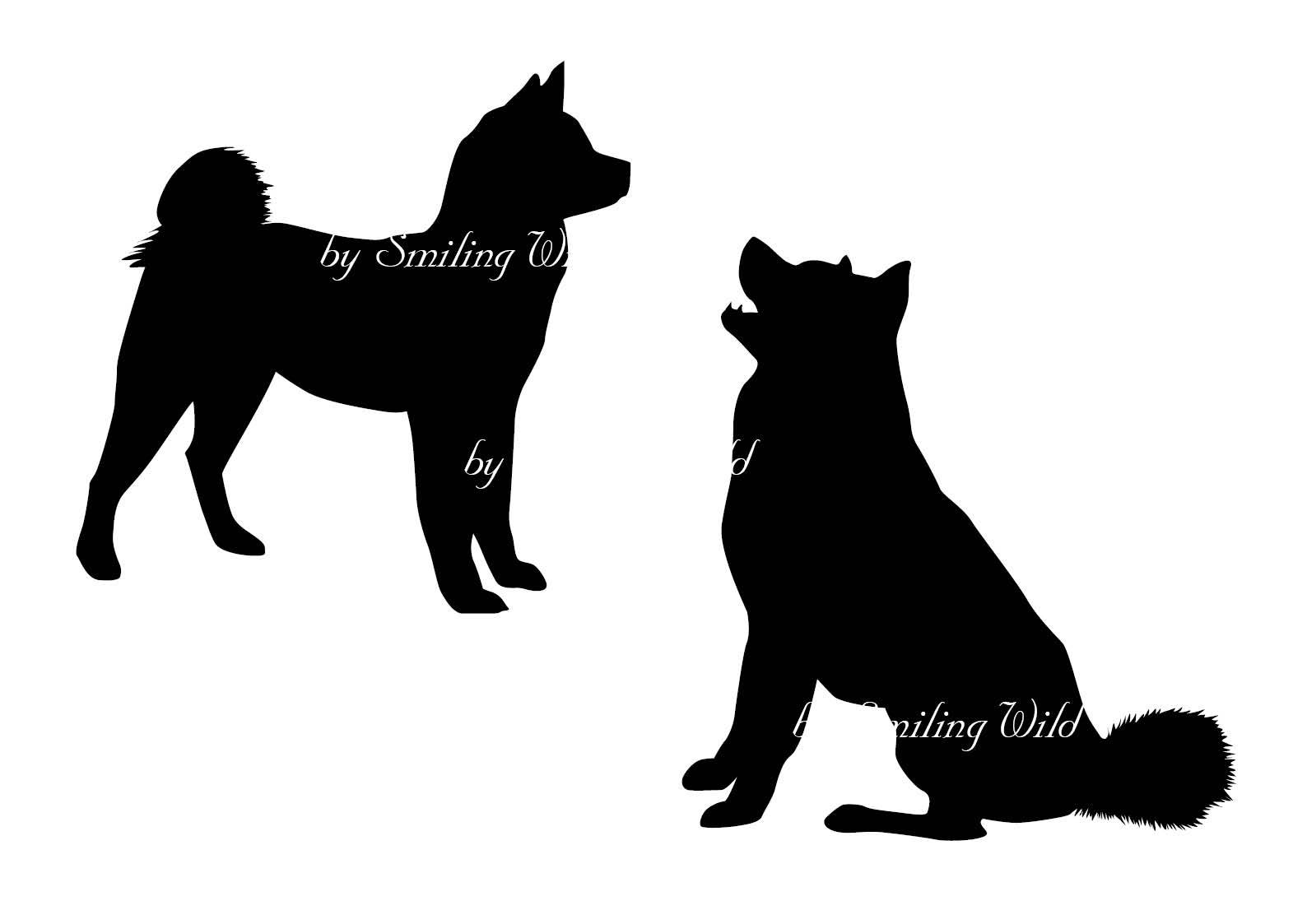 1588x1123 Akita Svg Dog Silhouette Cutout Printable Dog Akita Commercial Use