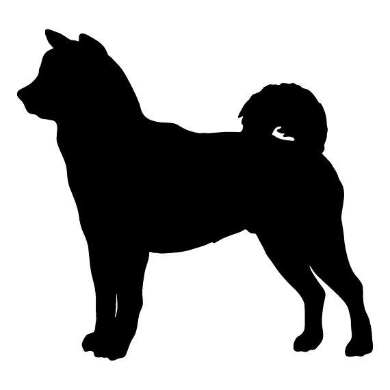 570x570 Shiba Inu Dog Wall Art Metal Wall Art Silhouette Profile