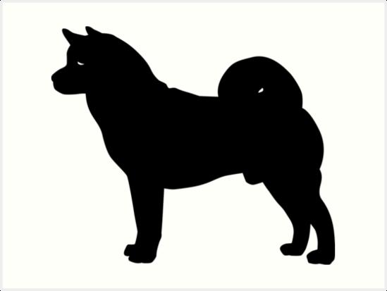 549x413 Akita Dog Silhouette Art Prints By Idrawsilhouettes On Redbubble