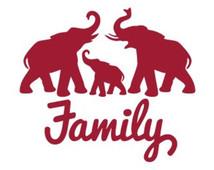 214x170 Elephant Family Clipart