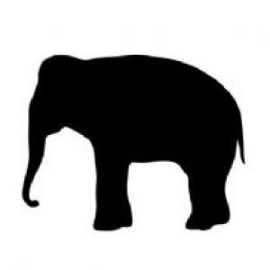 300x300 Elephant Silhouette Crafts Elephant Silhouette