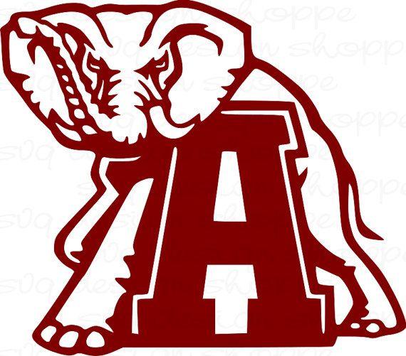 570x501 Svg Alabama Elephant Alabama Crimson Tide Roll By Svgdesignshoppe