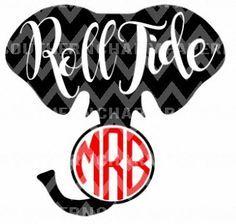 236x224 Alabama Monogram Elephant Roll Tide Inspired Svg Cut File Popular