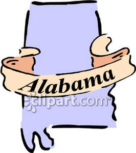 266x300 State Of Alabama Clip Art