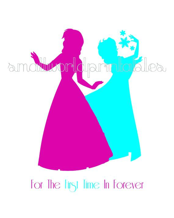 570x713 Wall Arts Disney Princess Silhouette Wall Art Princess Canvas