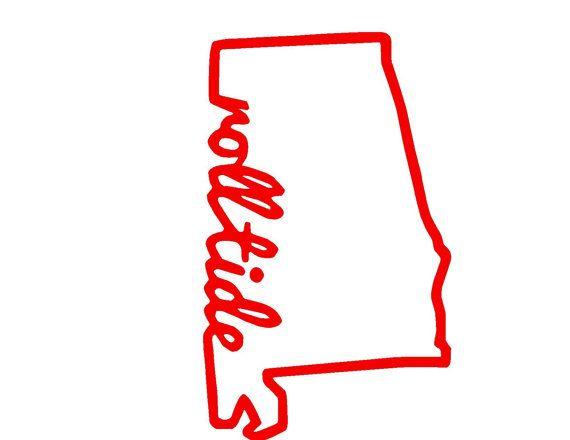 570x440 Alabama State Roll Tide Svg Or Silhouette Digital By Mandanoelle