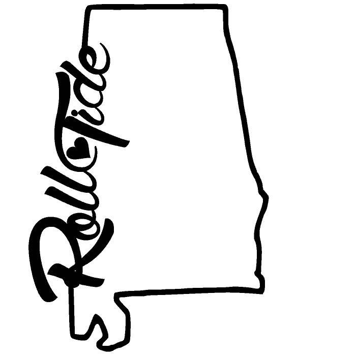700x700 Roll Tide With Heart State Outline Svg Alabama Roll Tide Roll