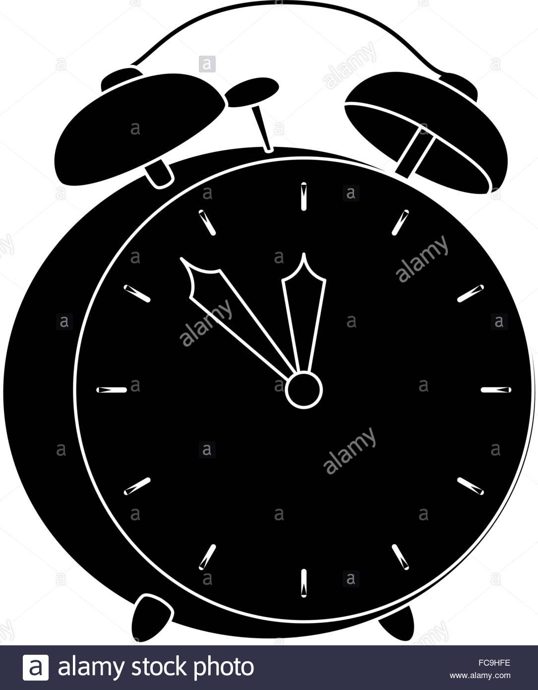1085x1390 Vintage Alarm Clock Silhouette Stock Vector Art Amp Illustration