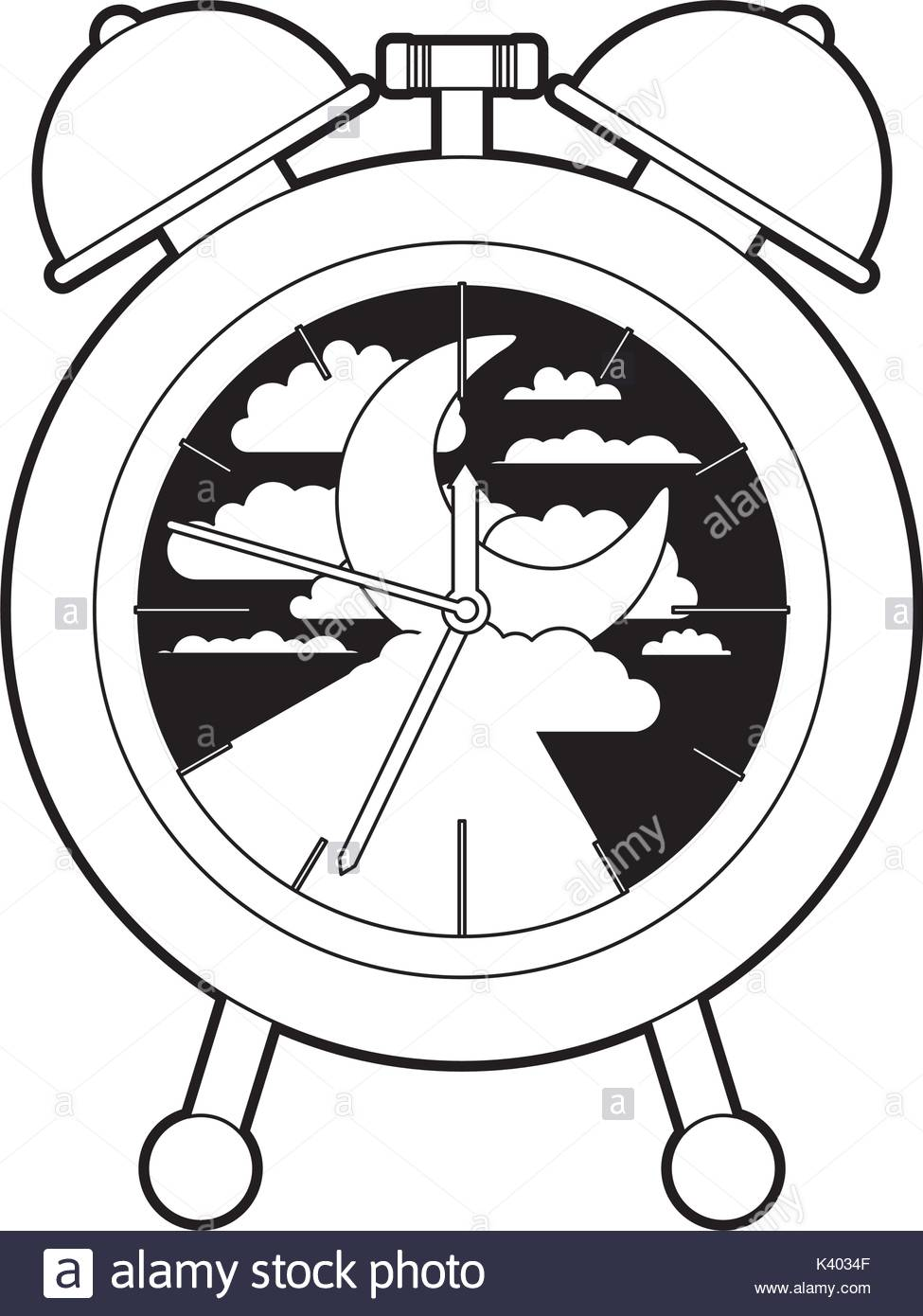 975x1390 Alarm Clock With Night Moon Landscape Inside Decorative Black
