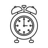 160x160 Sketch Blurred Silhouette Image Alarm Clock Vector Illustration