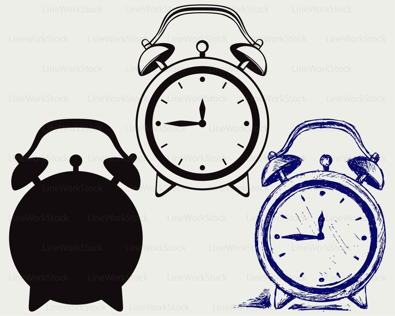 1500x1200 Alarm Clock Svgclock Clipartalarm Clock Svgclock Silhouette