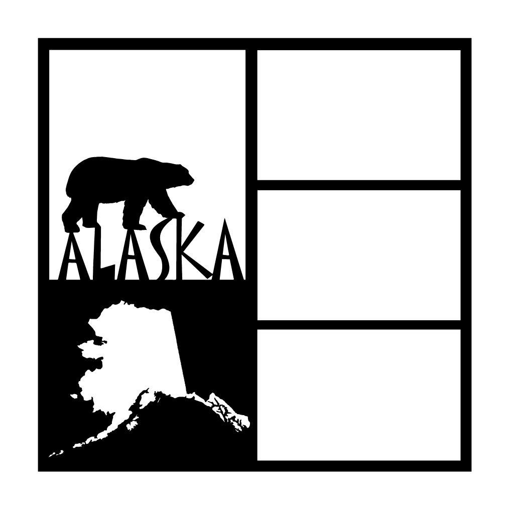 1014x1014 Alaska Map Scrapbooking Die Cut Overlay Scrapbooking Die Cut