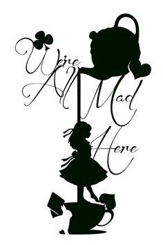 236x354 Alice In Wonderland Silhouettes Digital Collage Sheet Alice