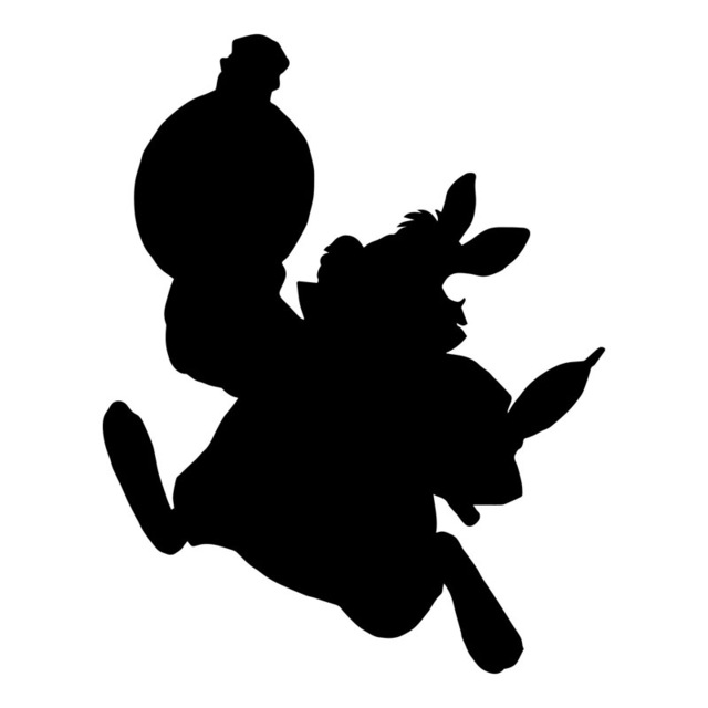 Alice In Wonderland Rabbit Silhouette