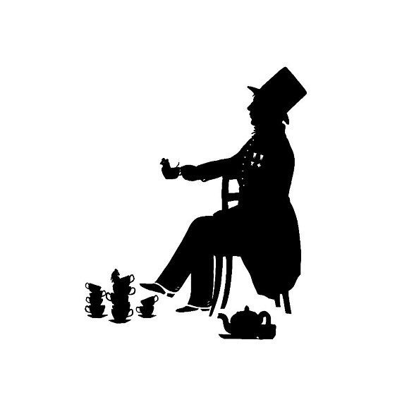 570x570 The Mad Hatter Alice In Wonderland Silhouette Print Lewis