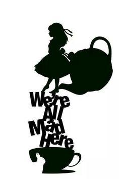 236x354 Silhouette Alice In Wonderland Silhouette Free Clip Art