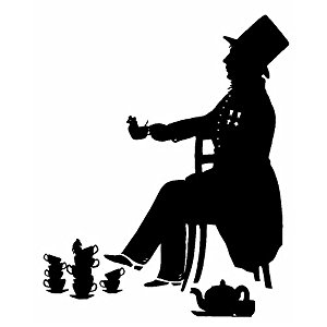 300x300 The Mad Hatter Alice In Wonderland Silhouette Poster