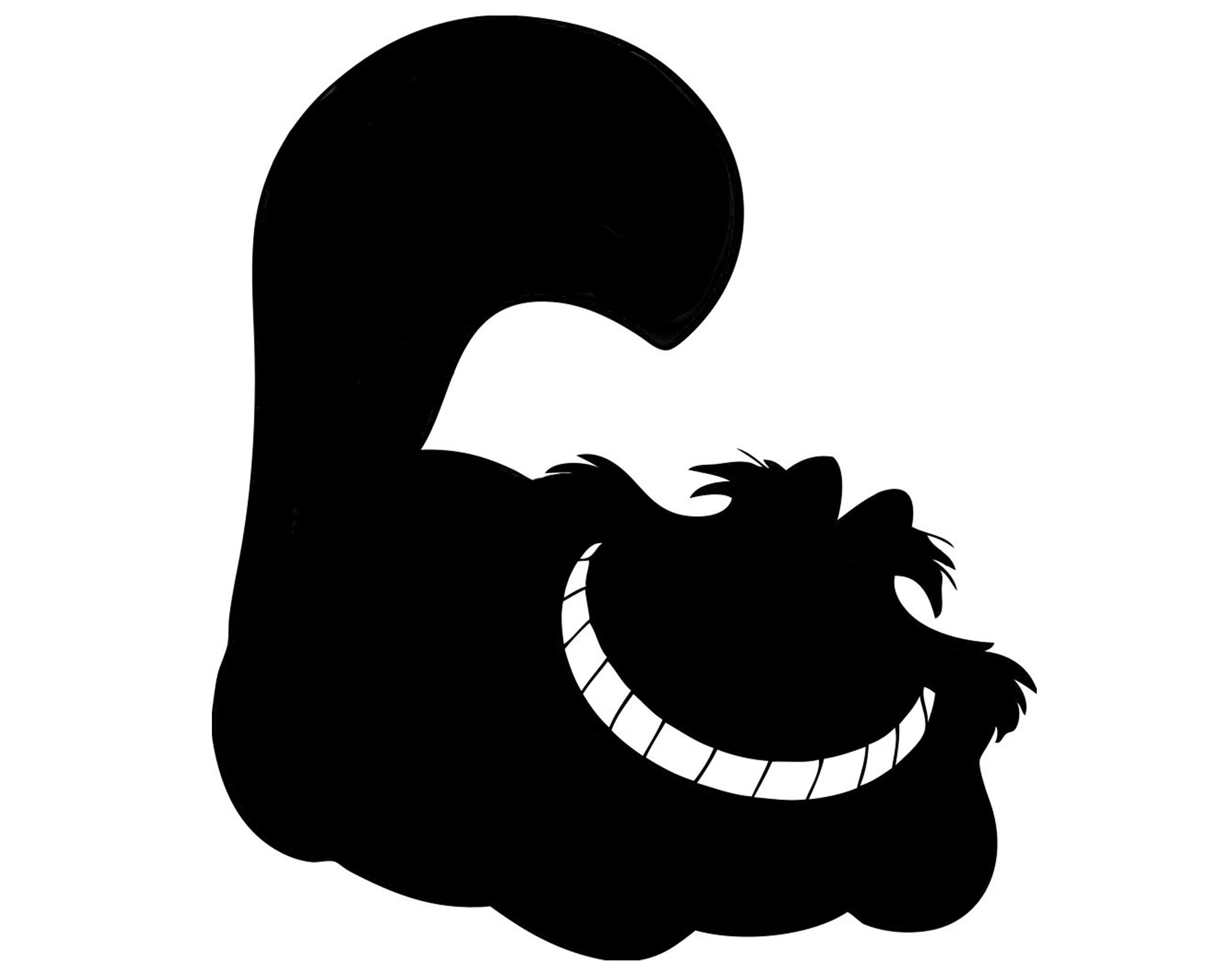 3000x2400 Alice In Wonderland Cheshire Cat Silhouette Using Iphone