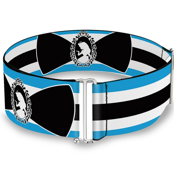 600x600 Alice In Wonderland Stripe Bow Silhouette Blue Black White Cinch