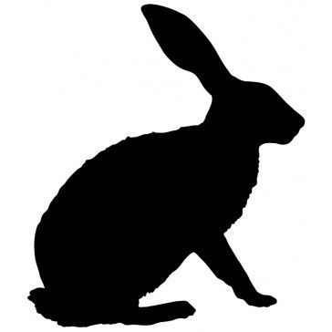 364x364 White Rabbit Silhouette