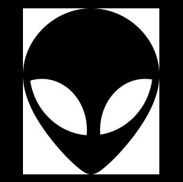 263x262 Alien Head Silhouette Sci Fi Aliens, Silhouette
