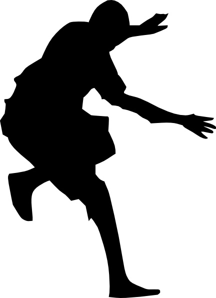 432x596 Man Jumping Silhouette Clip Art Free Vector In Open Office Drawing