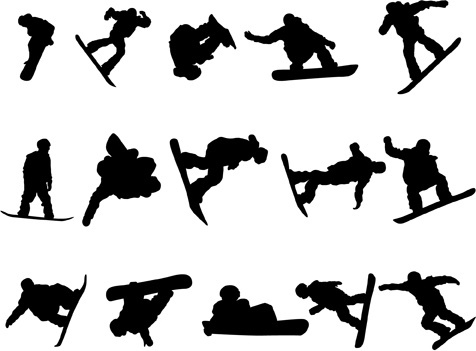 476x351 Sports Silhouettes Vector Free Vector Download (7,524 Free Vector