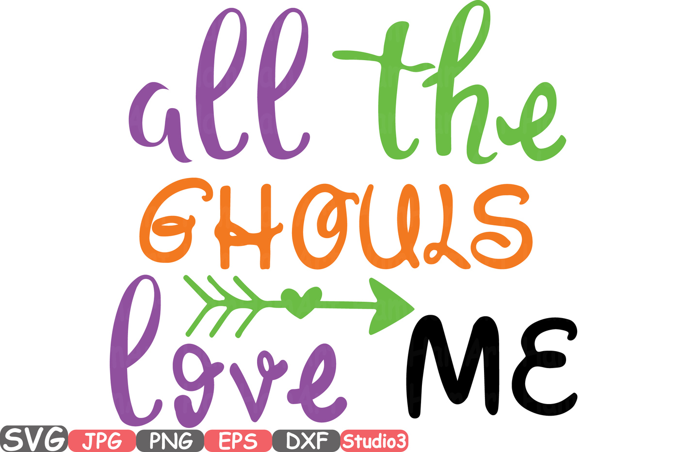 1400x932 All The Ghouls Love Me Silhouette Svg Cutting Files Digital Clip