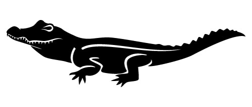 500x214 Alligator Silhouette Vector By Vectorportal