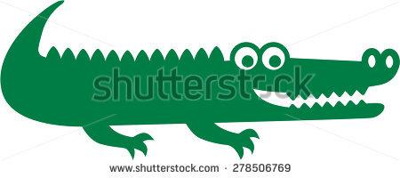 450x200 Alligator Clipart Tracks