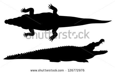 450x285 Crocodile Silhouette Clip Art Clipart Panda