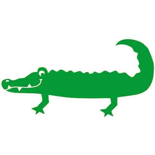 500x500 Krokodil Applicaties, Templates, Sjablonen, Flocken, Silhouetten