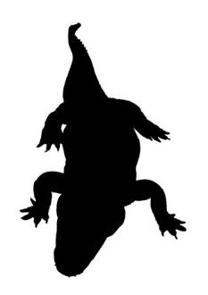 233x330 Alligator Silhouette 1 Decal Sticker