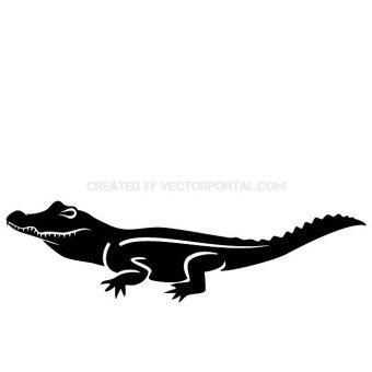 Alligator Silhouette Clip Art