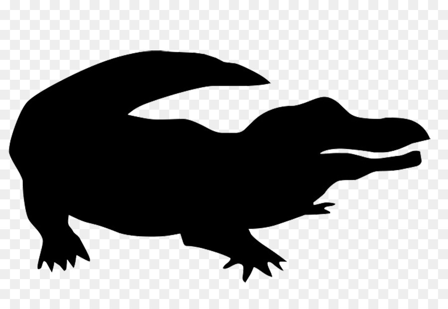 900x620 Crocodile American alligator Silhouette Clip art