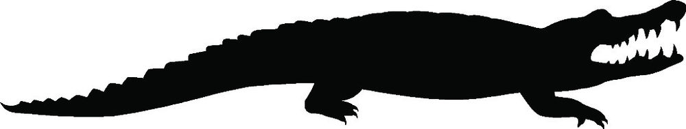 1000x189 Crocodile Sticker Alligator Car Window Decal Vinyl Graphic Florida