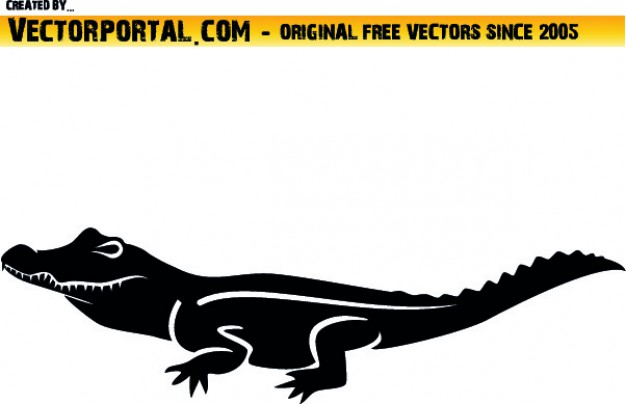 626x404 Lateral croc clipart Vector Free Download
